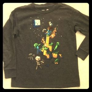 Youth LS cotton Minecraft tee